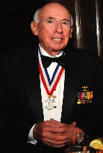 Alfred Scott Mc Laren, USN (Ret.), Ph.D. at the Explorers Club's Lowell Thomas Awards Dinner in New York.